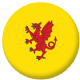 Somerset County Flag 25mm Pin Button Badge